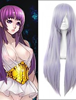 Popular! Long Straight Light Purple Color Cosplay Style Synthetic Wigs Top Quality