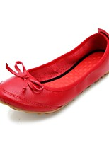 Women's Shoes Leatherette Flat Heel Comfort Flats Office & Career / Dress / Casual Red