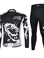CHEJI Men Cycling Bike Long Sleeve Clothing Set Bicycle Suit Jersey + Trousers