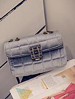 Women PU Sling Bag Shoulder Bag-Red / Silver / Black