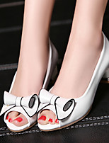 Women's Shoes Heel Heels / Peep Toe Sandals / Heels Outdoor / Dress / Casual Pink / White