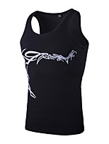 Men's Sleeveless Tank Tops,Cotton / Polyester Casual Print