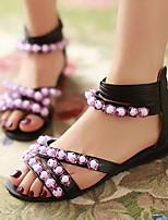 Women's Shoes Heel Wedges / Peep Toe Sandals Outdoor / Dress / Casual Black / Green / Beige / Orange