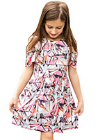Girl's Pink Dress Cotton Spring