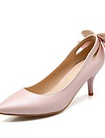 Women's Shoes Leatherette Stiletto Heel Heels Heels Office & Career / Party & Evening / Casual Pink / Gray / Beige