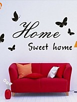 AYA™ DIY Wall Stickers Wall Decals, Sweet Home English Words & Quotes PVC Wall Stickers