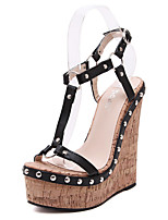 Women's Shoes  Wedge Heel Wedges / Open Toe Sandals Wedding / Office & Career / Party & Evening / Dress Black