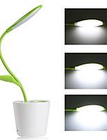 dimmable conduit lampe de bureau à 3 niveaux gradateur tableau lumière flexible + 5v / 1a usb port de charge + plante porte-stylo (vert)