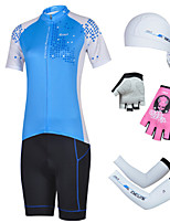 CHEJI Cycling Short Sleeves Sets Pirate Hat + Gloves + Sleeves