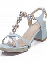 Women's Shoes Leatherette Chunky Heel Peep Toe Sandals Outdoor / Office & Career / Casual Black / Pink / Almond