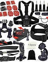 46 Accessori GoProMonopiede / Con bretelle / Boje / Sog / passamontagna / Accessori Kit / Morsetto flessibile / Clip / Dispositivo
