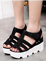 Women's Shoes Leatherette Platform Creepers Sandals Casual Black / Gray