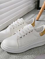 Scarpe Donna-Sneakers alla moda-Tempo libero / Sportivo-Comoda-Plateau-Finta pelle-Nero / Verde / Dorato