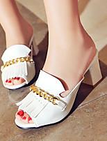 Chaussures Femme-Extérieure / Habillé / Décontracté-Noir / Rouge / Blanc-Gros Talon-Talons / Bout Ouvert-Sandales / Talons / Sabots &