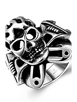 Ring Stainless Steel Skull / Skeleton Punk Fashion Silver Jewelry Halloween Daily Casual Sports 1pc