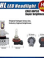 nuovi 4pcs CERR 6000lm 8HL auto ha condotto il faro doppio sistema di dissipazione del calore H4 H13 9004 9007 principale auto del faro