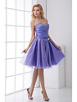 Lanting Knee-length Taffeta Bridesmaid Dress - Lavender A-line Sweetheart