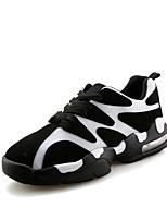 Scarpe da uomo-Sneakers alla moda-Casual-Tulle-Nero / Rosso / Bianco