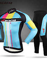 ACACIA 2016 Professional Team Cycling Shirt With Long Sleeves Tights Breathable Comfort Zone 3 D Cushion 02303