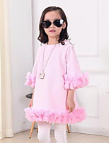 Girl's Pink Dress,Floral Cotton Spring / Fall