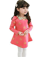 Girl's Red Dress,Galaxy Cotton Spring / Fall