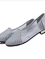 Women's Shoes Leatherette Flat Heel Comfort Flats Casual Pink / Silver / Gold