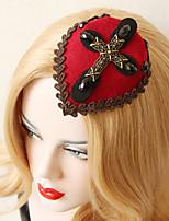 Chapeau Casque Mariage / Occasion spéciale Dentelle / Imitation de perle / Tissu Femme / Jeune bouquetière Mariage / Occasion spéciale1