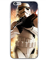 Pour Coque iPhone 6 Coques iPhone 6 Plus Motif Coque Coque Arrière Coque Dessin Animé Flexible PUT pouriPhone 6s Plus iPhone 6 Plus