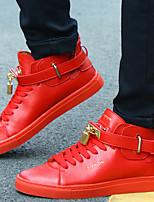 Scarpe Donna-Sneakers alla moda-Casual / Sportivo-Creepers / Comoda-Piatto-Sintetico / Tulle-Nero / Rosso / Bianco