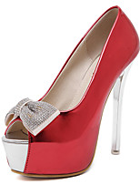Women's Shoes Stiletto Heel Heels / Peep Toe Heels Party & Evening / Dress Black / Red / White