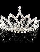 Bergkristal / Kristallen / Licht Metaal Vrouwen Helm Bruiloft / Speciale gelegenheden Tiara's Bruiloft / Speciale gelegenheden 1 Stuk