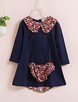 Girl's Floral Dress,Cotton Spring Fall Long Sleeve