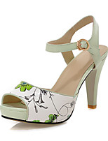 Women's Shoes Chunky Heel Peep Toe / Platform / Slingback Sandals Party & Evening/Dress Blue/Green