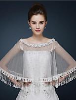 Wedding / Party/Evening / Casual Lace / Tulle Ponchos Sleeveless Wedding  Wraps