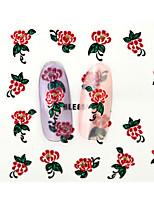 10PCS 3D Water Transfer Red Peony Flower Nail Art Sticker DIY Decoration  Nail Tools Nail Tips BLE856D