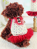 Dog Dress Red Spring/Fall Fashion
