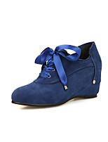 Chaussures Femme-Habillé / Décontracté-Noir / Bleu / Rouge / Amande-Talon Plat-Talons / Confort / Bout Arrondi-Talons-Microfibre