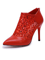 Women's Shoes Stiletto Heel Fashion Boots / Bootie Boots Office & Career / Party & Evening / Dress Black / Red
