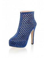 Chaussures Femme-Mariage / Bureau & Travail / Soirée & Evénement-Noir / Bleu-Talon Aiguille-Talons-Talons-Similicuir