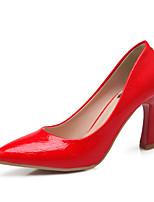 Women's Shoes Stiletto Heel Heels / Pointed Toe / Closed Toe Heels Dress Black / Pink / Red