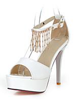 Women's Shoes Patent Leather Stiletto Heel Peep Toe / Platform Sandals Wedding / Party & Evening