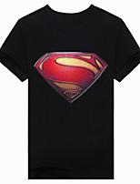Men's Short Sleeve T-Shirt,Cotton Casual / Work / Formal / Sport Print 3D printing Superman T-shirt