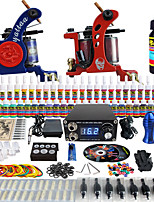 Solong Tattoo Complete Beginner Tattoo Kit 2 Pro Machine Guns 54 Inks Power Supply Needle Grips Tips TKB15