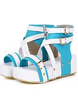 Women's Shoes Customized Materials Flat Heel Comfort Sandals Outdoor / Dress / Casual Blue / Yellow / Green