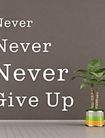 AYA™ DIY Wall Stickers Wall Decals, Never Give Up English Words & Quotes PVC Wall Stickers