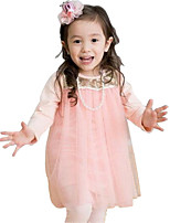 Girl's Pink Dress,Solid Rayon Spring / Fall