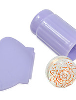 1pcs Colorful Transparent/Pink/Purple Jelly Stamp Nail Art Decoration Nail Art Tools NJ115