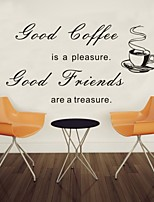 AYA™ DIY Wall Stickers Wall Decals,Good Coffee English Words & Quotes PVC Wall Stickers