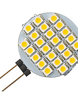 g4 1.5W 24-LED 3528 lampadina forma rotonda bianca guidata