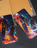 For iPhone 6 Case / iPhone 6 Plus Case Pattern Case Back Cover Case City View Soft TPU iPhone 6s Plus/6 Plus / iPhone 6s/6